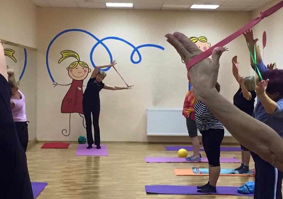 Cvičení seniorů